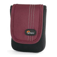 Lowepro Dublin 20 Camera Pouch, black/bordeaux red