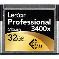 Lexar CFAST 32GB 3400X Memory Card