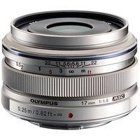Olympus M. Zuiko 17mm f1.8 Lens, silver
