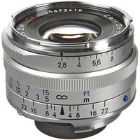 Zeiss 35mm f/2.8 C Biogon T* ZM Lens (Silver)