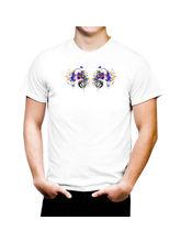 AKS Splash Sassy Headphones Stylish Men's T Shirt (SPMU2163), white, xl