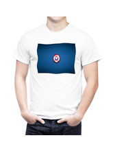 AKS Splash Captain America Stylish Men's T Shirt (SPSU2050), white, l