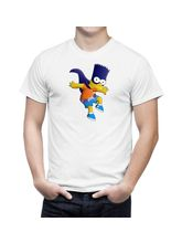 AKS Splash Bartman Stylish Men's T Shirt (SPCA2090), white, l
