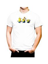 AKS Splash Minion Party! Stylish Men's T Shirt (SPCA2155), white, xl