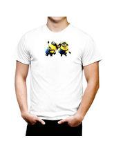 AKS Splash Minion Fun Stylish Men's T Shirt (SPCA2145), white, xl