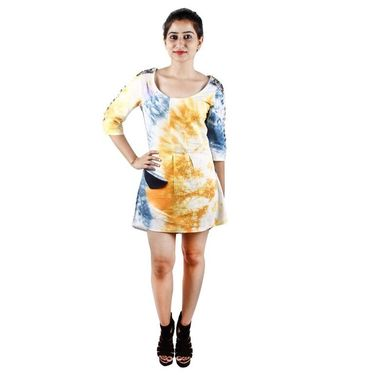 Rabadi Marbel Tie And Dye Dress