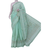Light Green Lucknowi Chikankari Saree