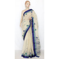 Off white Bengali Tant Saree