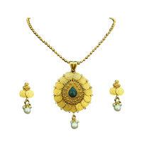 Kasumala Necklace set with Maroon & Green