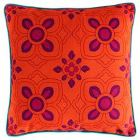 Elegant Purple Flower Cushion Cover
