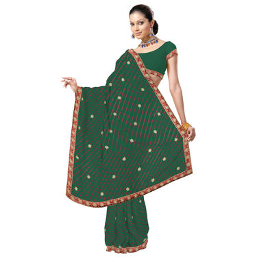 Colourful Chiffon Leheriya Saree