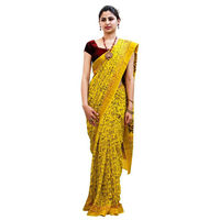Turmeric Tribe Block Printed Cotton Saree