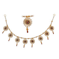 Torans / Door Hanging/ Bandhanwar in Pearls and Golden Brown stone
