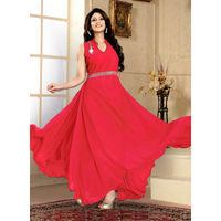 Red Western Designer Gown