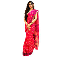 Scarlet Blue Block Printed Cotton Saree