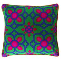 Beautiful Blue Pink Flower Cushion Cover