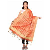 Orange Tissue and Jamdani Dupatta