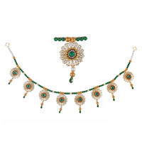 Torans / Door Hanging/ Bandhanwar in Pearls and green motis