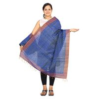 Ikat Silk Cotton Handloom Dupatta