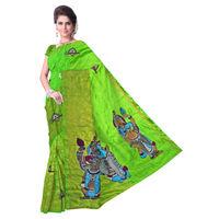 Uppada Silk Saree with Kalamkari Applique