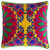 Splendid Red Flower Cushion Cover