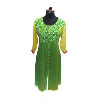 Elegant Green Georgette Kurti