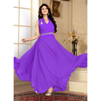 Purple Western Designer Gown