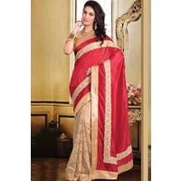 Tussar Saree With Gold Border