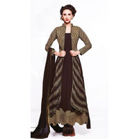 Brown Georgette Embroider Anarkali Suit