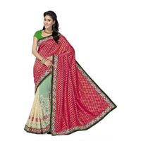 Majestic Maroon Party Wear Viscose and Royal Net Saree