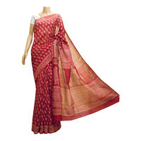 Maroon Chanderi Silk Saree