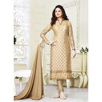 Cream Salwar Suit