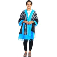 Black and Blue Ikat Cotton Handloom Stole