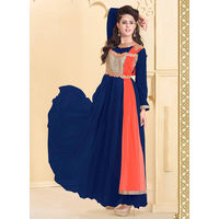 Blue Designer Gown