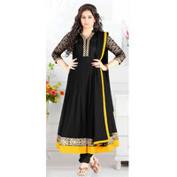 Black Georgette With Thread Work Anarkali