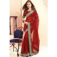 Printed Cotton Saree With Beautiful Border