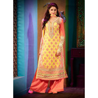 Orange Straight Salwar Suit