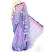 Light Purple Bengali Tant Saree