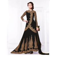 Black Georgette Embroider Anarkali Suit