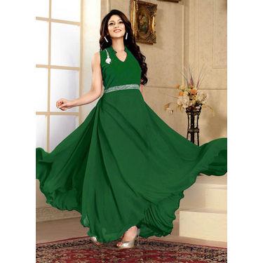 Green Western Designer Gown