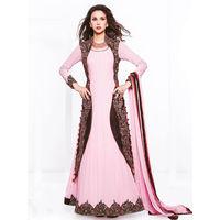 Pink Georgette Embroider Anarkali Suit