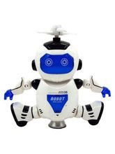 Craftcase Musical Dancing Robot with 3D Lights (Multicolor) (Cp1Dancrobt3), multicolor