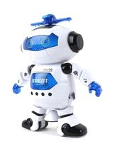 Craftcase White Naugty Dancing Robot LED Light and Music Toy (Cp1Dancrobt4), multicolor