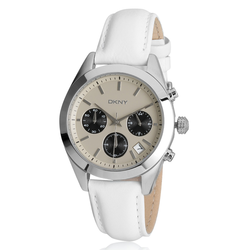 DKNY Ny877867 White/Tan Chronograph Watch