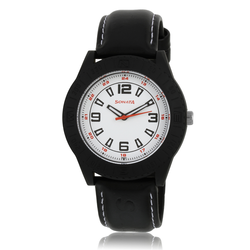 Sonata 798412Pp01 Black/White Analog Watch