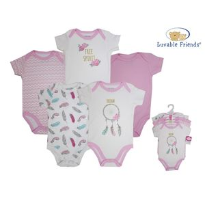 Hanging Bodysuit 5pk (Interlock), baby girl