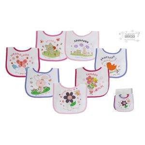 Baby Days Of The Week Bibs, baby neutral