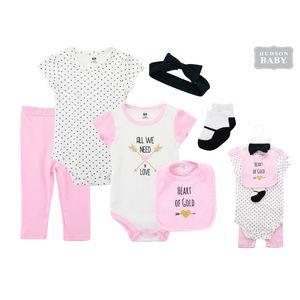 Layette Set 6pc- Heart, baby girl