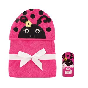 Animal Hooded Towel Embroidery, baby neutral