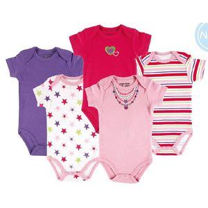 Hanging Bodysuit 5pk (Interlock), baby neutral